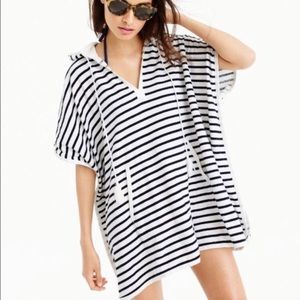 J. Crew Striped Terry Swimsuit Cover Up